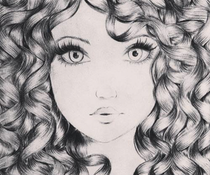 brave, drawing, and girl image