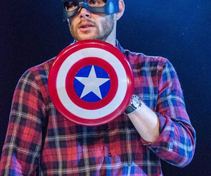 supernatural, captain america, and dean winchester image