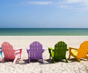summer, beach, and chair image
