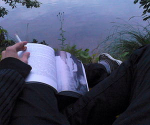 book, grunge, and cigarette image
