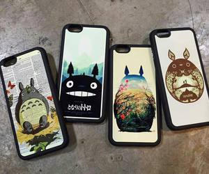 anime, totoro, and phone cases image