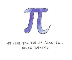 love, pi, and cute image