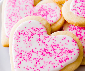 Cookies, hearts, and pink image