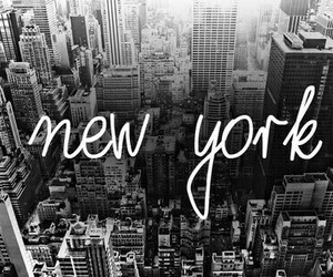 new york, city, and black and white image
