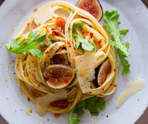 food, pasta, and fig image