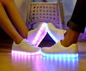 shoes, light, and blue image