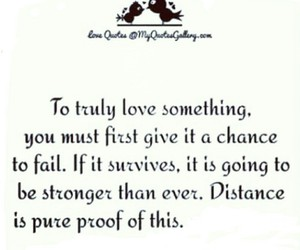 distance, quote, and Stronger image