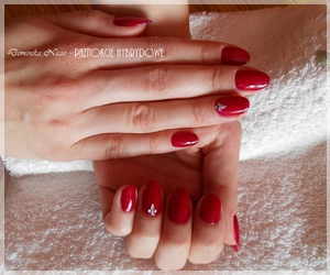elegant, nail, and red image