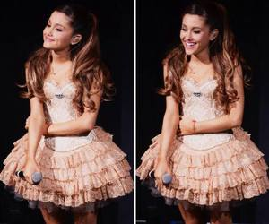 ariana grande, dimples, and dress image