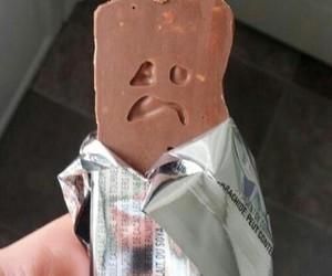 chocolate, sad, and food image