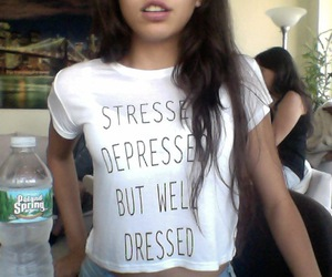 girl, stressed, and depressed image