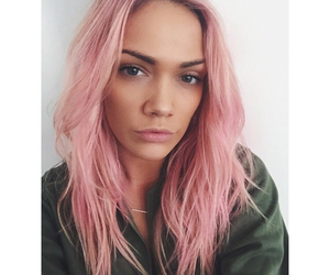 eyebrows, pink hair, and girl image