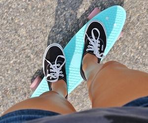 vans, summer, and skate image