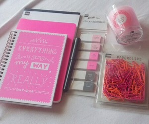 school and pink image