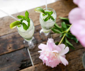 beautiful, drinks, and flowers image
