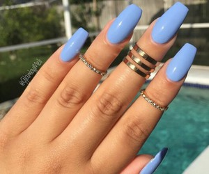 nails and blue image