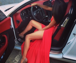 car, dress, and red image