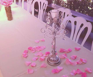 pink and table image