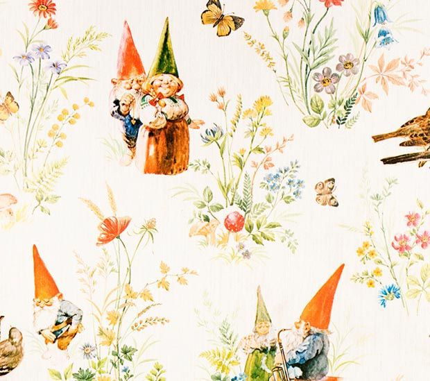 Wallpaper Showing Rien Poortvliet Illustrations For Wil