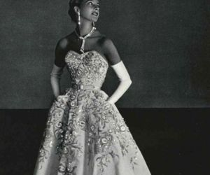 50s, white, and dress image