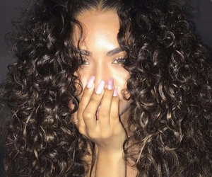 nails and curly-hair image