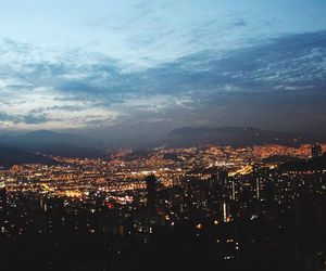 city, colombia, and night lights image