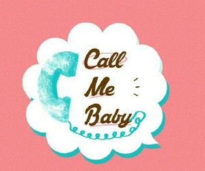 baby, call me, and telephone image