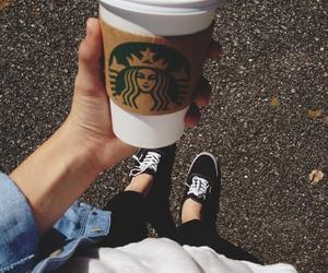 starbucks, vans, and coffee image
