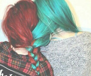 hair, red, and friends image