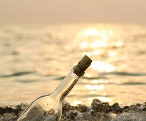 bottle and sea image