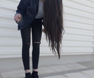 girl, grunge, and hair image