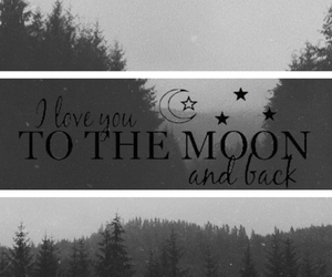 black and white, moon, and phrases image