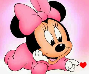 minnie, pink, and baby image