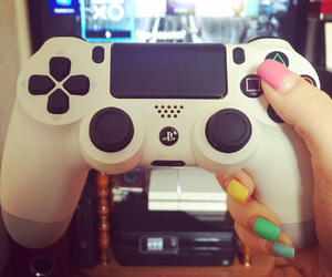 gamer, girl, and nails image
