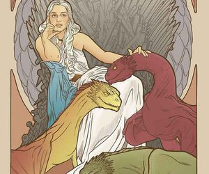 game of thrones, art, and dragons image