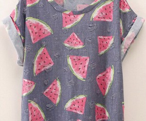 fashion, fruit, and shirt image