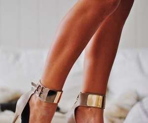 ankles, gold, and heels image