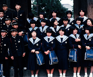 japan, school, and students image