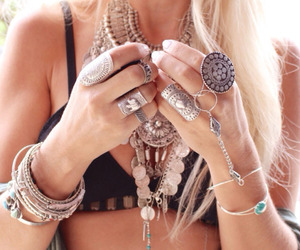 blonde, boho, and girl image
