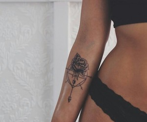 beauty, tattoo, and fitspo image