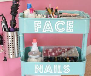diy, nails, and face image
