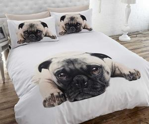 bed, pug, and cute image