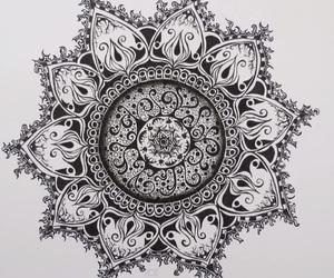 black, boho, and mandala image