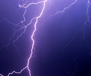 light, purple, and storm image