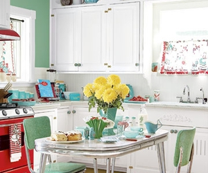 kitchen and retro image