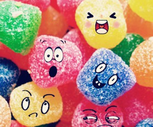 candy, faces, and smiley image