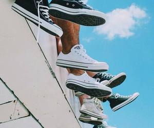 converse, shoes, and black image
