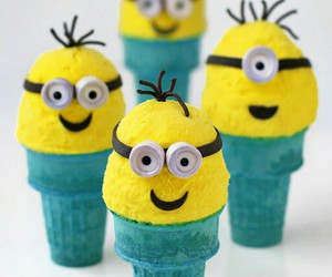 icecream, minions, and sweet image