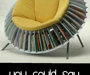 books, chair, and creative image