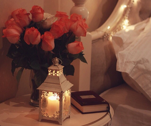 quran, flowers, and lanterns image